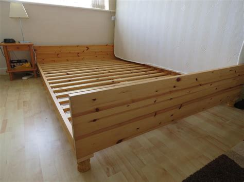 ikea pine bed ikea pine double bed and mattress priced to sell quickly
