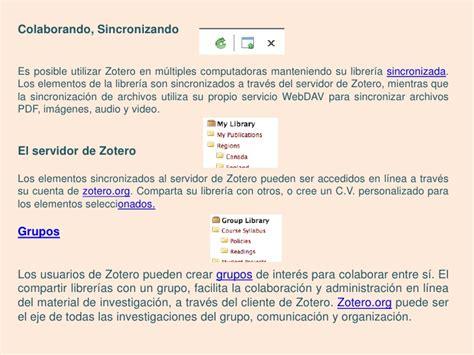 zotero tutorial español pdf tutorial zotero