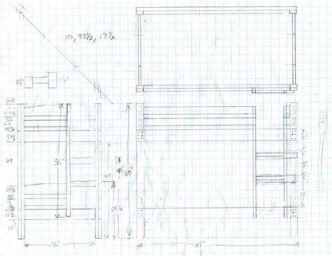 futon blueprint how to build bunk bed blueprints pdf plans