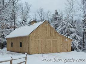 Gable Barn Plans by Barn Plans Store