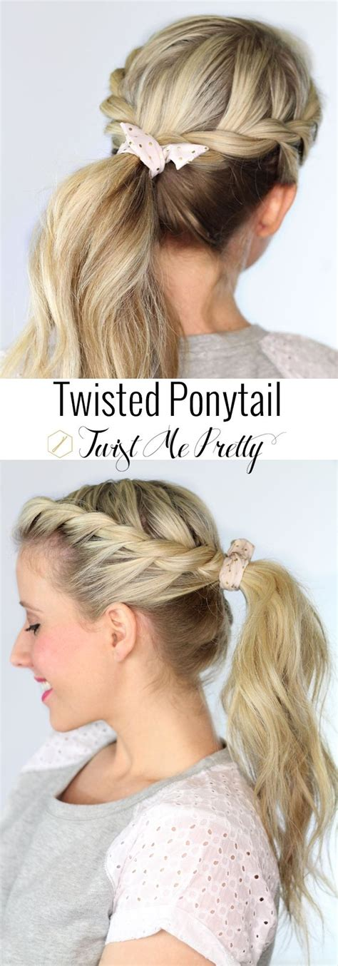 types of pony tail with a roll ladies best ponytail hairstyles for all hair types