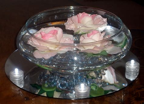 Ideas For Birthday Decorations At Home floating roses in a glass bowl raji creations