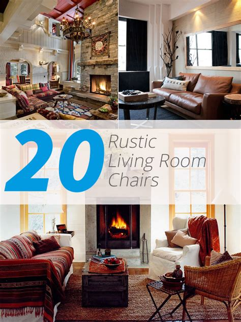 rustic living room sets 20 cozy rustic chairs in living room for a warm appeal