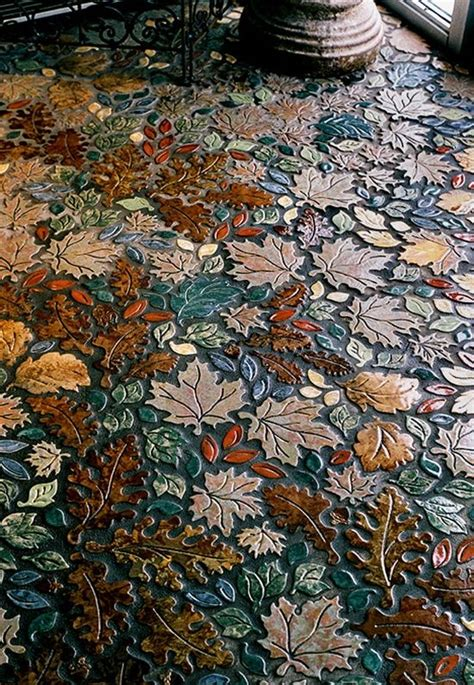 leaf pattern flooring leaf mosaic tile floor pattern love affair pinterest