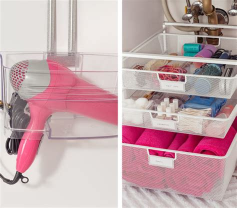 under the bathroom sink storage ideas organize cosmetics toiletries the tricks easy under the sink storage ideas real simple