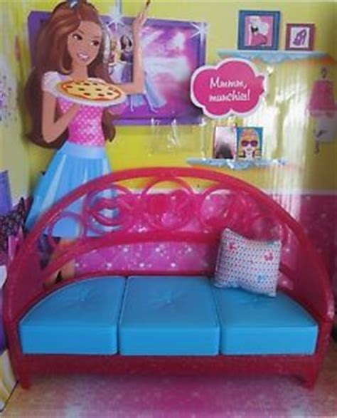 new barbie doll furniture couch sofa accessories pillow
