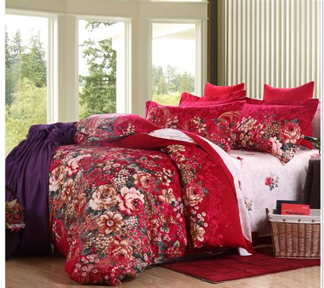 luxury beautiful flower design duvet cover queen king size