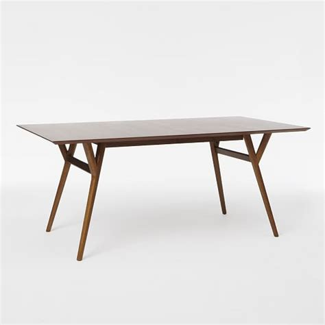 elm dining table mid century expandable dining table elm
