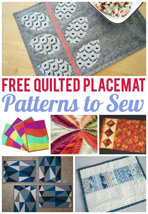 Free Easy Quilted Placemat Patterns by 7 Free Quilted Placemat Patterns You Ll On Craftsy
