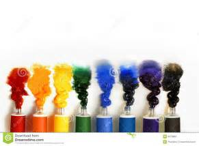 paint images multicolored paint tubes on a white background stock images image 9070984