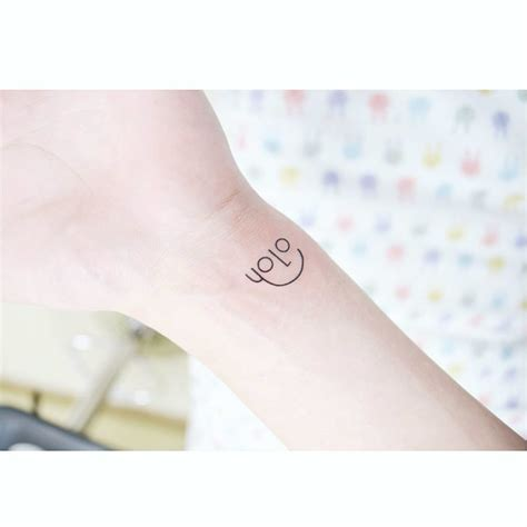 yolo tattoo designs you only live once small best ideas gallery