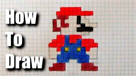 Drawing 8 Bit Characters by How To Draw 8 Bit Mario