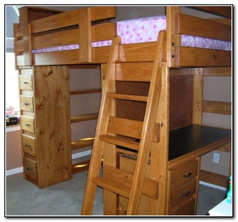bunk bed with desk it wood bunk beds with desk and dresser beds home