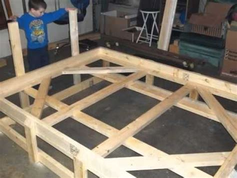 2x4 bed frame custom bed frame from 2x4 s