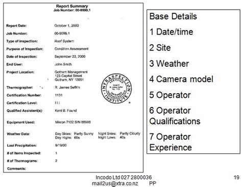 thermal imaging report template thermal imaging uses in building surveys procedures