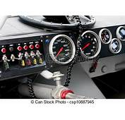 Drawing Of Race Car Dash Board  Dashboard With Steering