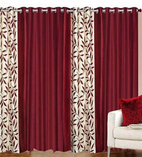 set of curtains buy 84 x 48 inch maroon polyester door curtain set of 4