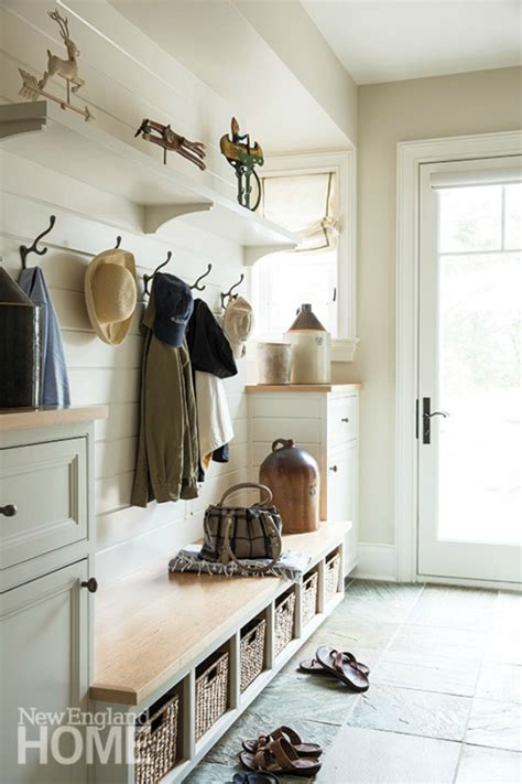 White Entryway Bench And Shelf Farmhouse Mudrooms House Of Hargrove
