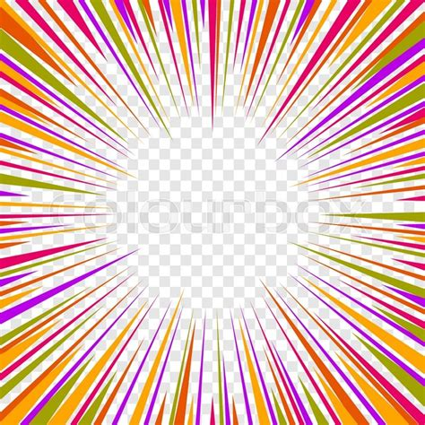 transparent background color comics radial speed lines graphic effects on