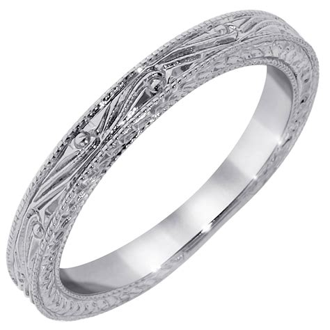 2018 popular etched wedding rings