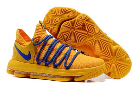 kd new year shoes 2017 cheap nike kd 10 warrior yellow blue for sale new