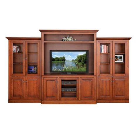 Handcrafted Dining Room Tables by Maple Wall Entertainment Center Amish Built