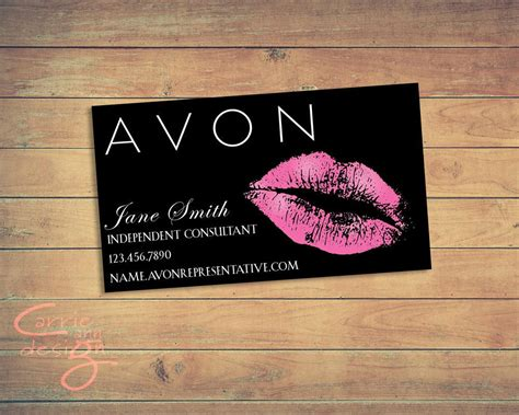 avon templates business cards avon business card printable