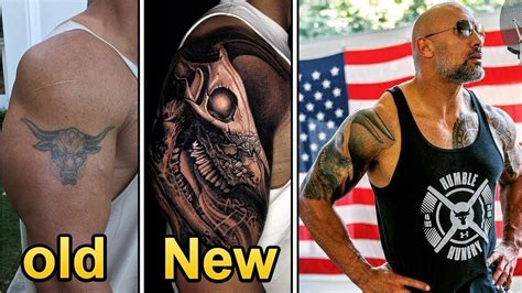 dwayne the rock johnson tattoo the rock dwayne johnson getting new fixing