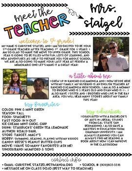 Best 25 Meet The Teacher Ideas On Pinterest Meet The Newsletter Templates