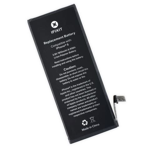 iphone 6 battery iphone 6 replacement battery ifixit