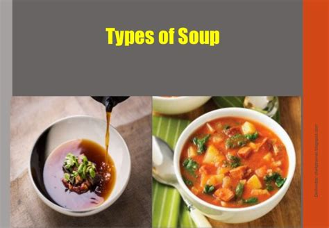 types of soup