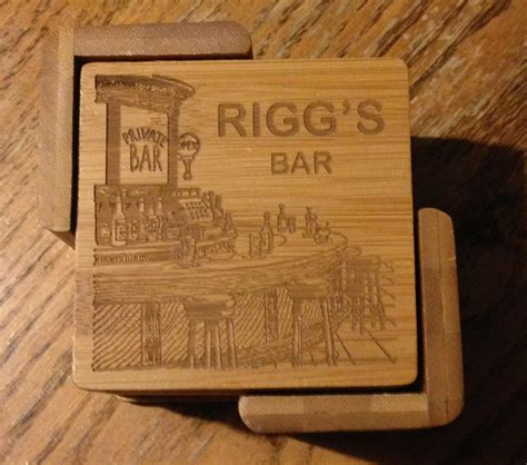 bar coasters personalized bar coaster set 6 coaster set great gift