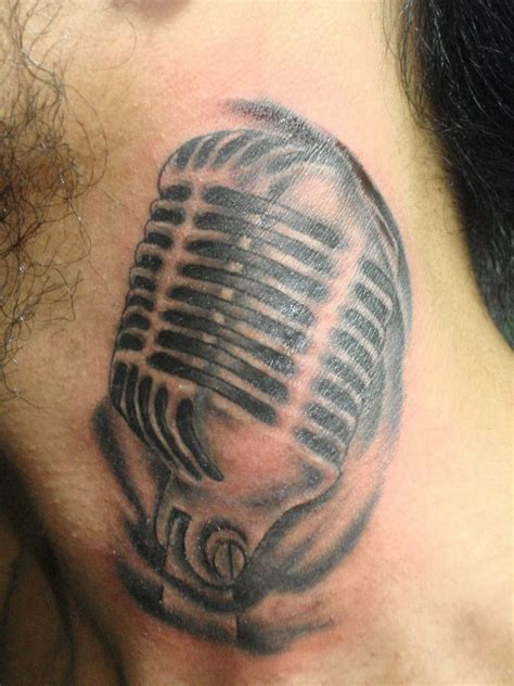 small microphone tattoos microphone tattoos designs ideas and meaning tattoos