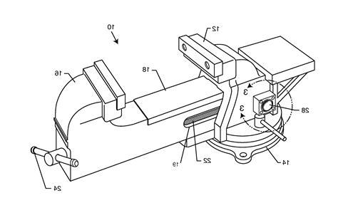 bench vise parts list patent drawing bench vise parts 6 defilenidees com