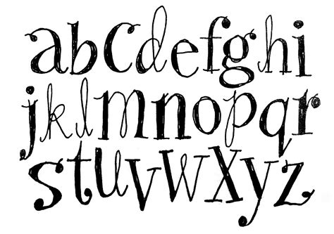 font lettere fonts alphabet on pretty fonts alphabet