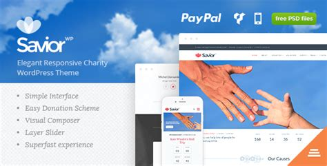 themeforest charity savior charity donations wordpress theme by