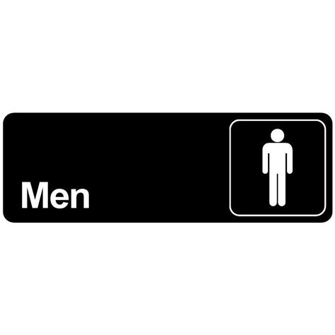 bathroom men sign men bathroom door sign restroom for commercial restaurant men s room ebay
