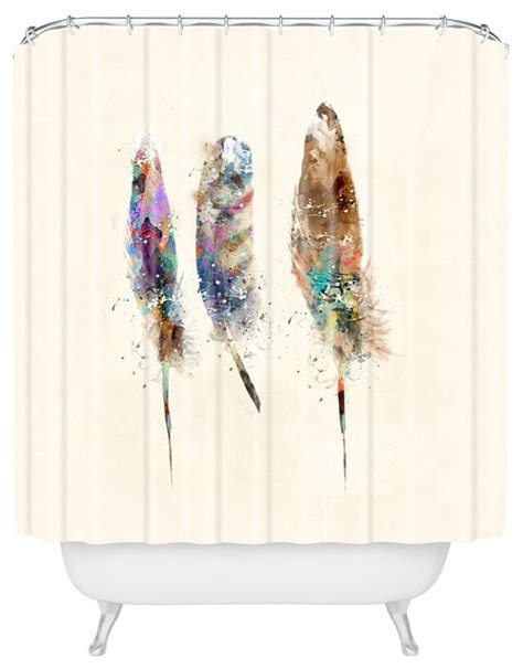 feather shower curtain deny designs brian buckley free feathers shower curtain