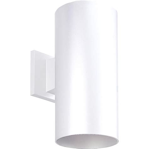 home depot outdoor lighting white progress lighting 1 light white outdoor wall lantern p5641