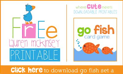 Printable Go Fish Card Games | the carver crew free printable go fish card game from