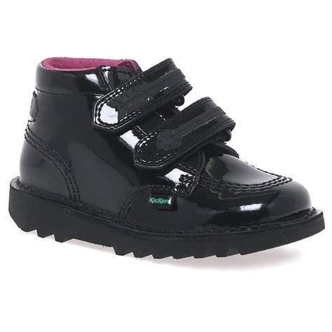 Sepatu Kickers Boots Sintetic Leather Termurah kickers arro black patent boots charles clinkard