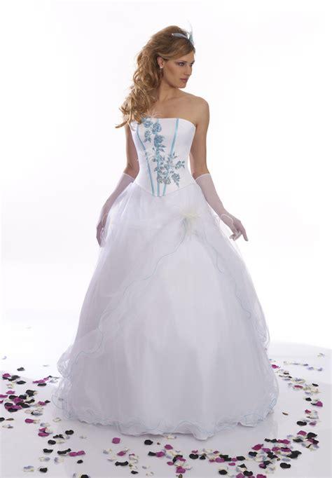 Robe De Mariée Bleu Turquoise Et Ivoire - robe de mariee bleu et blanche des robes pour toute les