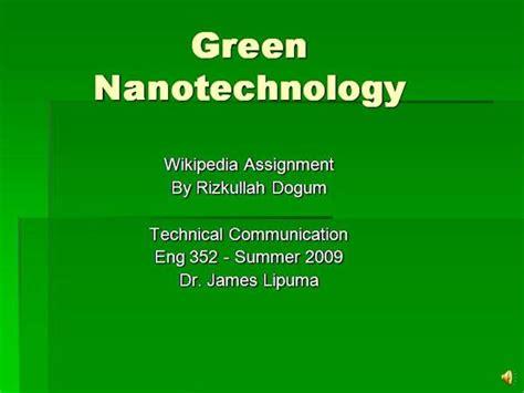 ppt templates for nanotechnology green nanotechnology authorstream