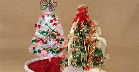 deck your tabletops with mini christmas trees the