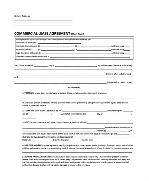 Commercial Lease Termination Agreement by Sle Commercial Lease Termination Agreement 7 Documents In Word Pdf