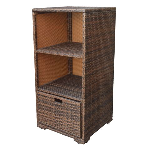Espresso Wicker Rattan Storage Cube Towel Storage Dish Rattan Bathroom Storage