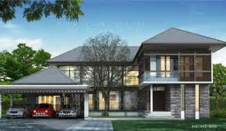 Modern 2 Story House Plans by Modern Style 2 Story Home Plans For Construction In Thai