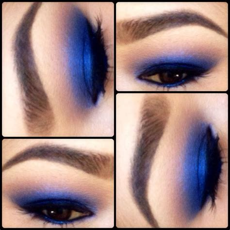 blue eyeshadow makeup maybelline color in