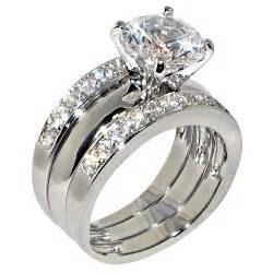 ring sets 3 47 ct cubic zirconia cz solitaire bridal engagement wedding 3 ring set jewelry