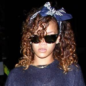 how to wear bandanas with bob hairstyles rihanna with tyed bandana rihanna hairstyles instyle uk